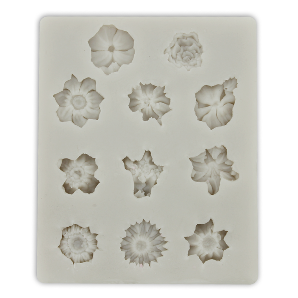 Silicone Fondant Mold 11 Flowers - bakeware bake house kitchenware bakers supplies baking
