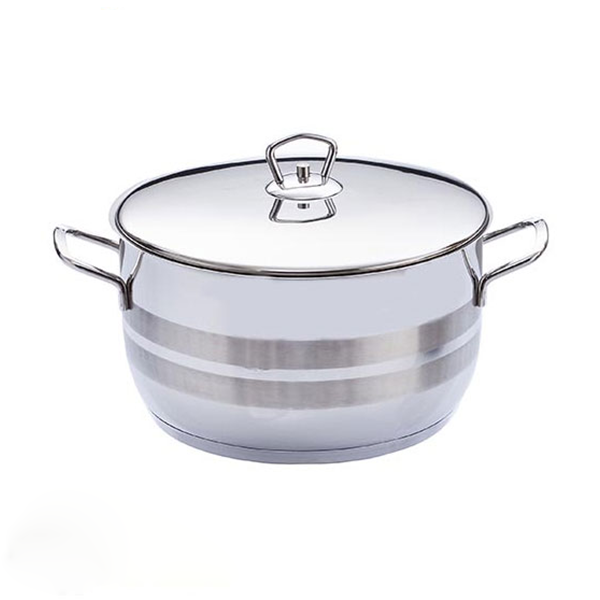 Safinox Flavia 24cm Deep Cooking Pot With S/S LID 6.80Ltr