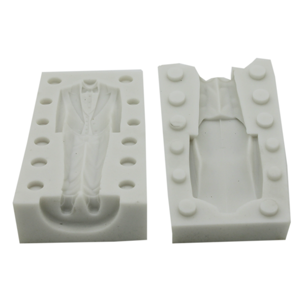 3D Man Suit Evening Dress Silicone Mold - bakeware bake house kitchenware bakers supplies baking