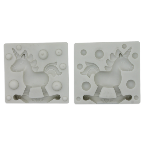 3D Rocking Unicorn Silicone Mold - bakeware bake house kitchenware bakers supplies baking