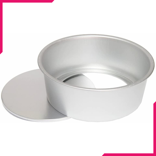 Cake Pan Silver Removable Lid 9in x 2.5in - bakeware bake house kitchenware bakers supplies baking