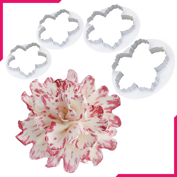 Peony Flower Cutter - bakeware bake house kitchenware bakers supplies baking