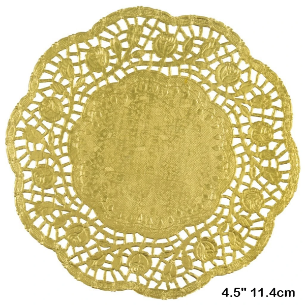 Doilies Baking Paper Mat Golden 4.5