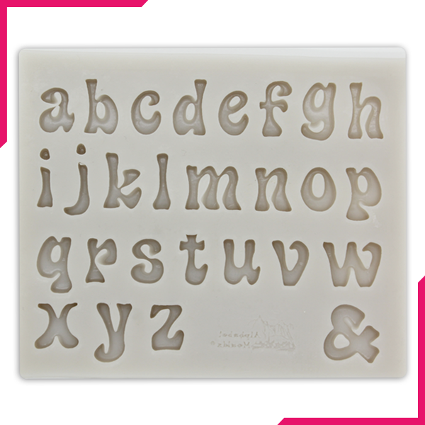 Silicone Fondant Mold Small Alphabets - bakeware bake house kitchenware bakers supplies baking
