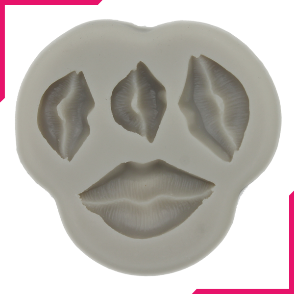 Silicone Fondant Mold 3D Lips - bakeware bake house kitchenware bakers supplies baking