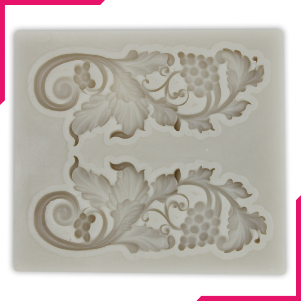 Silicone Fondant Mold Floral Lace