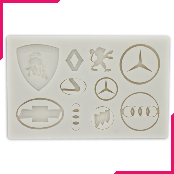 Silicone Fondant Mold Cars Logo - bakeware bake house kitchenware bakers supplies baking
