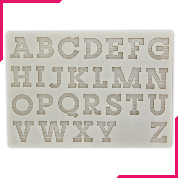 Silicone Fondant Mold Capital Alphabet - bakeware bake house kitchenware bakers supplies baking