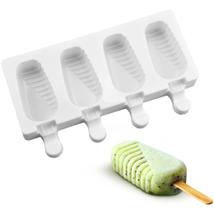 Ice Cream Popsicle Silicone Mold 4 Cavity - bakeware bake house kitchenware bakers supplies baking