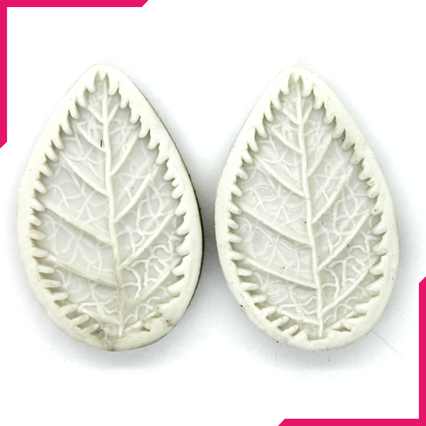 Leaves Silicone Mold 2 Cavity - bakeware bake house kitchenware bakers supplies baking