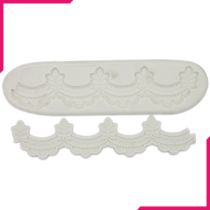 Silicone Fondant Mold Lace Border - bakeware bake house kitchenware bakers supplies baking
