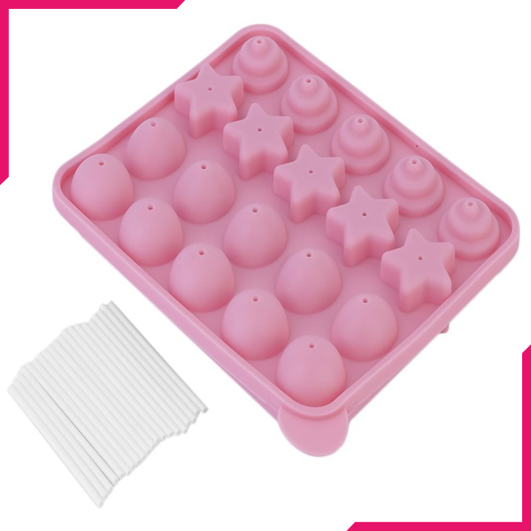 Silicone Lollipop Mold Multi Design - bakeware bake house kitchenware bakers supplies baking