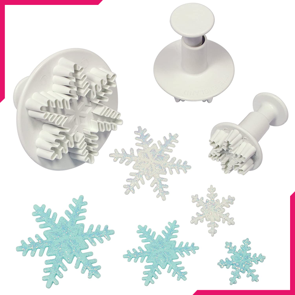 Snowflake Plunger Cutter - bakeware bake house kitchenware bakers supplies baking