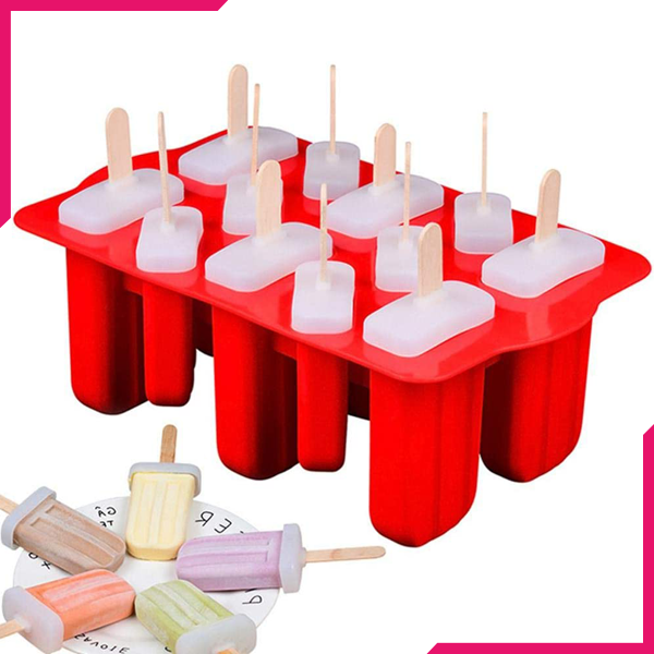 Silicone Popsicle Mold 12 Cavity - bakeware bake house kitchenware bakers supplies baking