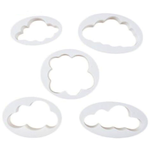 Fluffy Cloud Cutters 5Pcs - bakeware bake house kitchenware bakers supplies baking