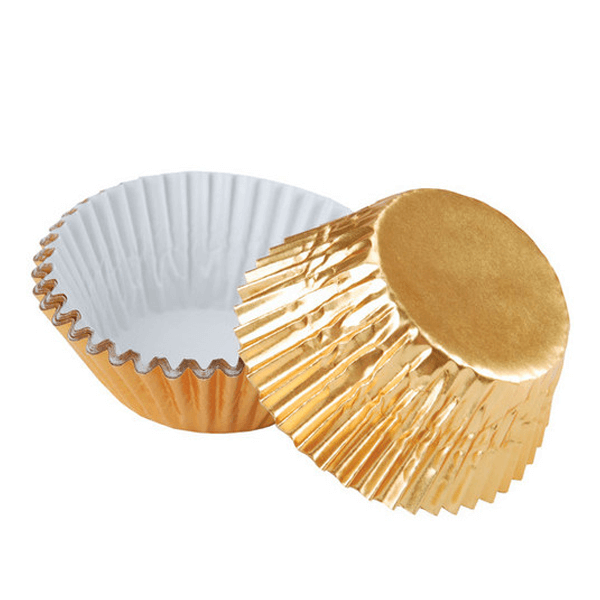 Gold Foil Baking Cups Liners - bakeware bake house kitchenware bakers supplies baking