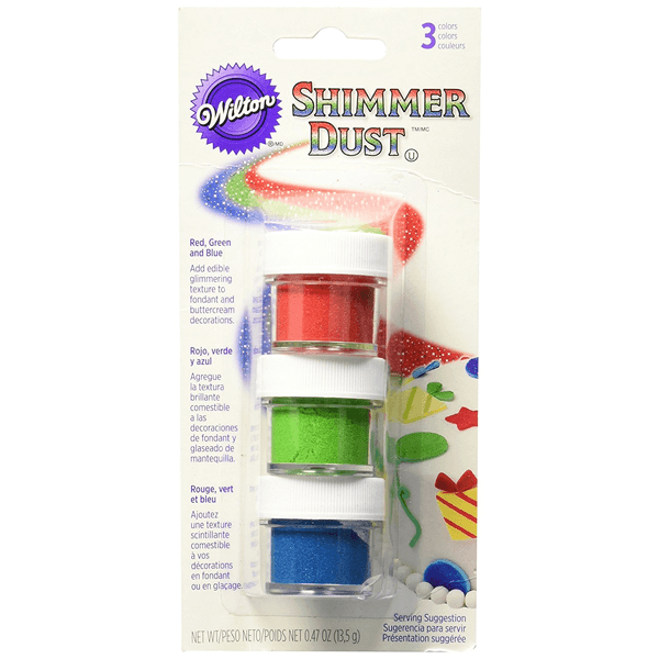 Edible Shimmer Dust - Red, Green and Blue