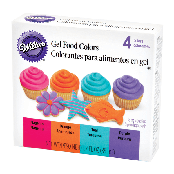Wilton Gel Food Colors - 4 Colors Pack - bakeware bake house kitchenware bakers supplies baking