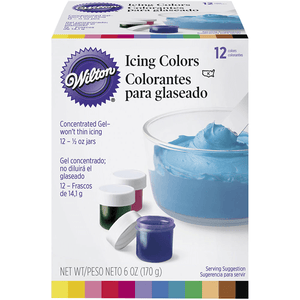 Wilton Gel Icing Colors - 12 Colors Pack - bakeware bake house kitchenware bakers supplies baking