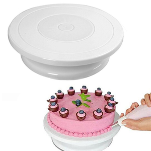 Cake Decorating Turntable White - bakeware bake house kitchenware bakers supplies baking