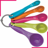 Measuring Spoons Colorful - bakeware bake house kitchenware bakers supplies baking