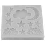 Moon Star Cloud Silicone Mold - bakeware bake house kitchenware bakers supplies baking