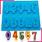 Number 0-9 Silicone Lollipop Mold - bakeware bake house kitchenware bakers supplies baking