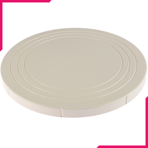 Turn Table White Flat - bakeware bake house kitchenware bakers supplies baking