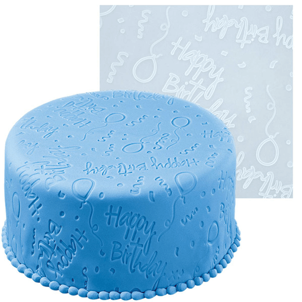 Fondant Imprint Mats - Happy Birthday - bakeware bake house kitchenware bakers supplies baking