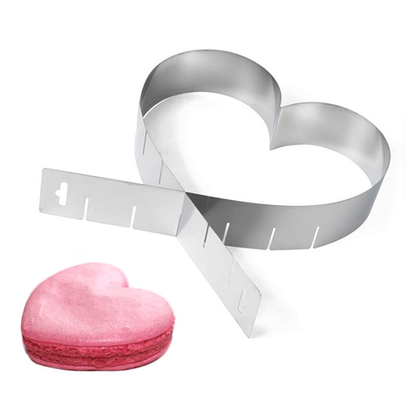Adjustable Heart Cake Setting Frame - bakeware bake house kitchenware bakers supplies baking