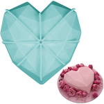 Diamond Heart Shape Silicone Mold - bakeware bake house kitchenware bakers supplies baking