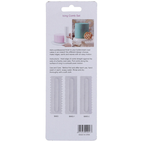 Cake Icing Comb Set - bakeware bake house kitchenware bakers supplies baking
