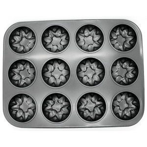 Floral Muffin Tray 12 Muffins - bakeware bake house kitchenware bakers supplies baking