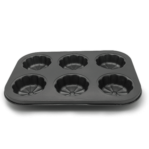 Floral Muffin Tray 6 Muffins - bakeware bake house kitchenware bakers supplies baking
