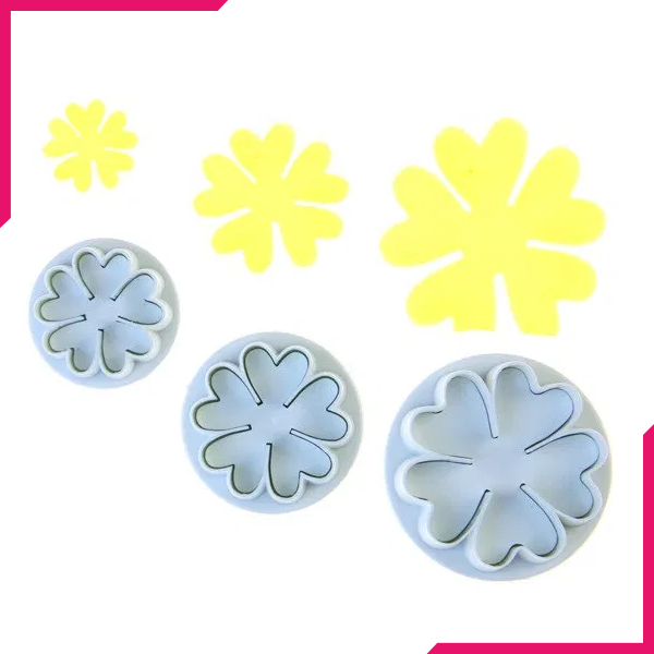 5 Petal Flower Plunger Cutter - bakeware bake house kitchenware bakers supplies baking