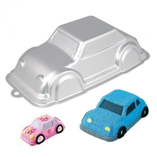 Silver Cartoon Car Cake Mold - bakeware bake house kitchenware bakers supplies baking