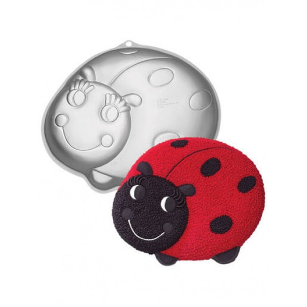 Silver Cartoon Lady Bug Cake Mold - bakeware bake house kitchenware bakers supplies baking