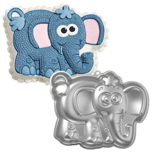 Silver Cartoon Elephant Cake Mold - bakeware bake house kitchenware bakers supplies baking