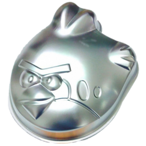 Silver Cartoon Angry Bird Cake Mold - bakeware bake house kitchenware bakers supplies baking