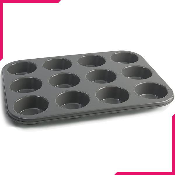 Muffin Tray 12 Muffins (Plain) - bakeware bake house kitchenware bakers supplies baking