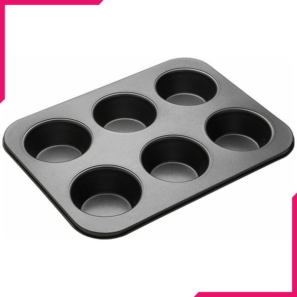 Muffin Tray 6 Muffins (Plain) - bakeware bake house kitchenware bakers supplies baking