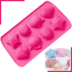 Silicone Ice Mold Sea Shell Fish - bakeware bake house kitchenware bakers supplies baking