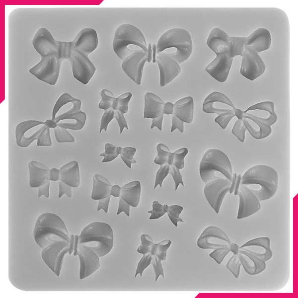 Silicone Mold Bow 16 Cavity - bakeware bake house kitchenware bakers supplies baking