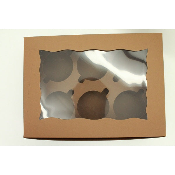 Cupcake Box - 6 Cupcake - bakeware bake house kitchenware bakers supplies baking
