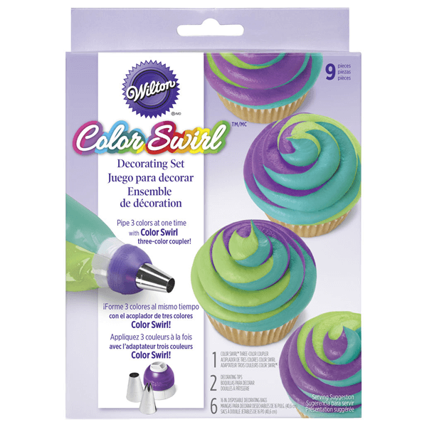 Wilton ColorSwirl 3-Color Coupler Deco Kit - bakeware bake house kitchenware bakers supplies baking