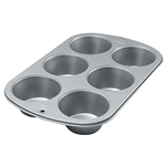 Wilton Recipe Right Jumbo Muffin Pan - 6 Cups - bakeware bake house kitchenware bakers supplies baking