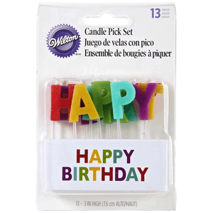 Happy Birthday Candle Set=13pcs - bakeware bake house kitchenware bakers supplies baking