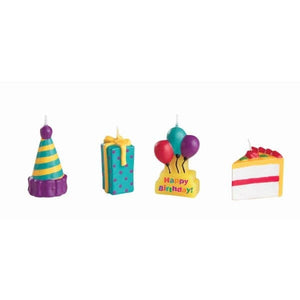 Party Time Candle Pkt=4pcs - bakeware bake house kitchenware bakers supplies baking