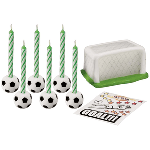Soccer Candle Pkt=14pcs - bakeware bake house kitchenware bakers supplies baking