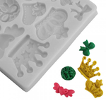 Crown & Bow Silicone Fondant Mold - bakeware bake house kitchenware bakers supplies baking
